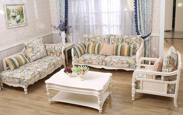 地中海风格最新碎花布艺沙发套装价格