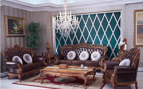 欧式古典镂空雕花小客厅沙发价格