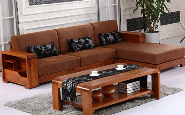 现代中式客厅老榆木沙发价格