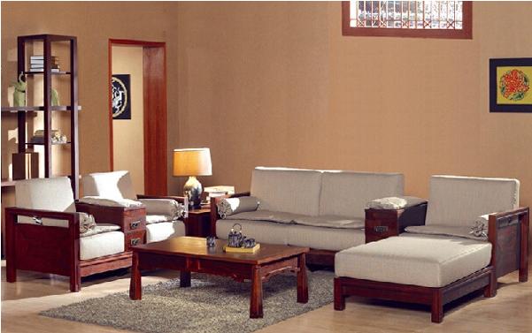 老榆木中国风布艺沙发价格