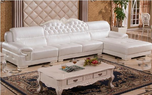 此款欧式皮艺沙发采用进口头层皮制作