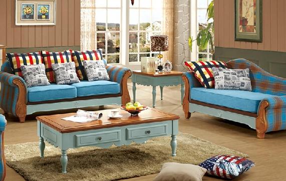 【品牌沙发】地中海美式乡村布艺沙发组合价格, 地图片