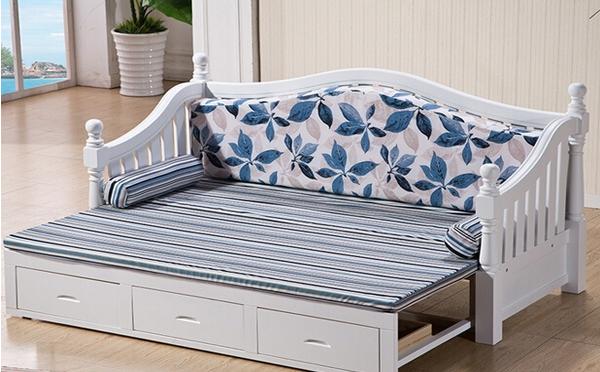 美式多功能实木沙发床价格
