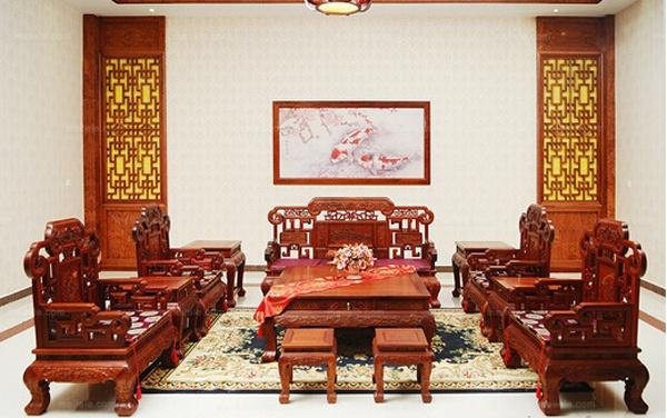 传统中式尊贵老挝花梨木沙发套装价格