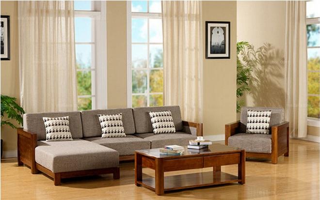 中式奥古曼实木转角沙发价格