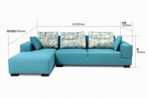 实木转角沙发图片_尺寸