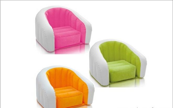 充气沙发椅的价格,充气沙发椅子贵不贵  这款黑色圆点单人圆通沙发椅