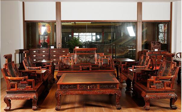 中式实木沙发品牌图片大全