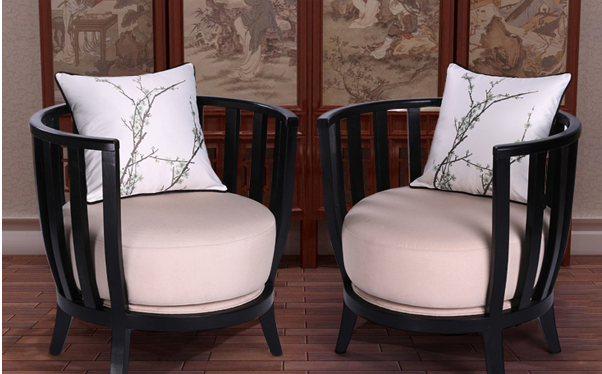 新中式金丝檀木662转角沙发图片/价格