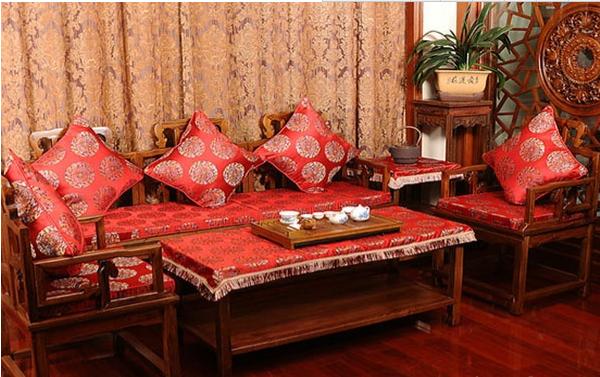 沙发垫布艺坐垫图片