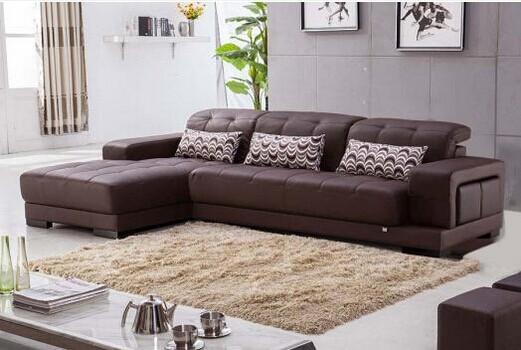 共枕高档进口黄牛头层皮沙发 现代简约式客厅 沙发