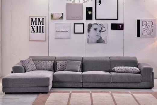 共枕可拆洗实木框架雪尼尔纱布艺沙发 现代简约风格