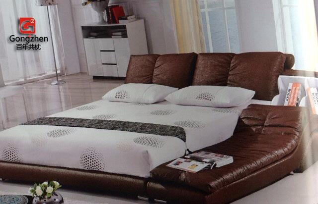 共枕布艺床c301+ 床边榻榻米