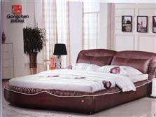 共枕布艺床c302,共枕软体家具