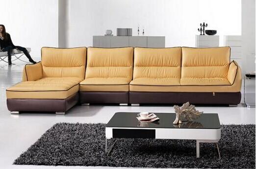 共枕冬季舒适组合沙发 简约客厅组合真皮沙发